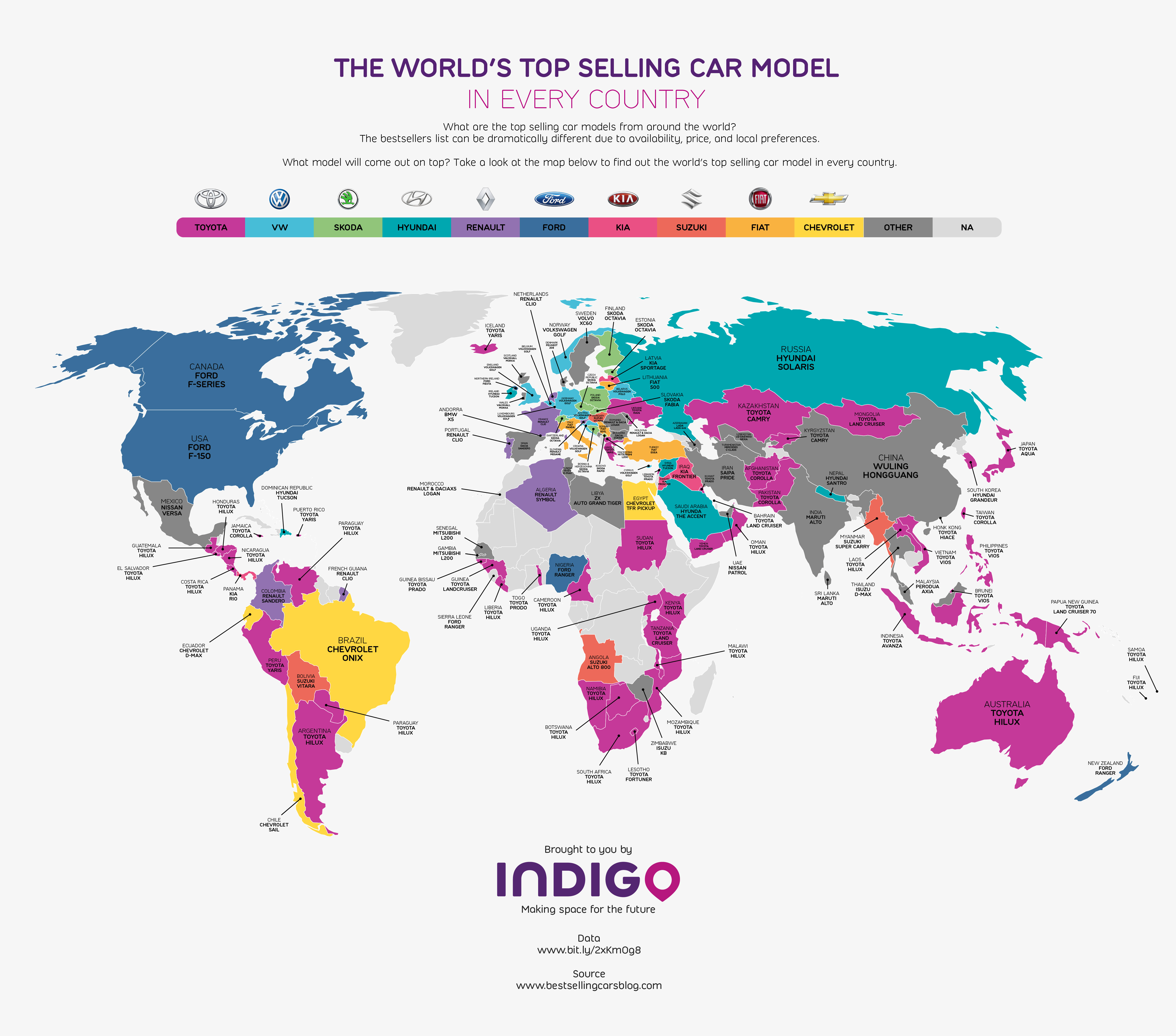 The worlds top selling car model in every country wheels24 the car market today is overflowing with different models but which car is king of the roads in your country take a look at the map to find out gumiabroncs